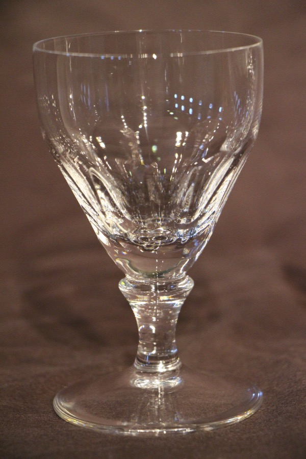 Buy 2x Crystal Georgian Yeoward Wine Glasses From Antiques
