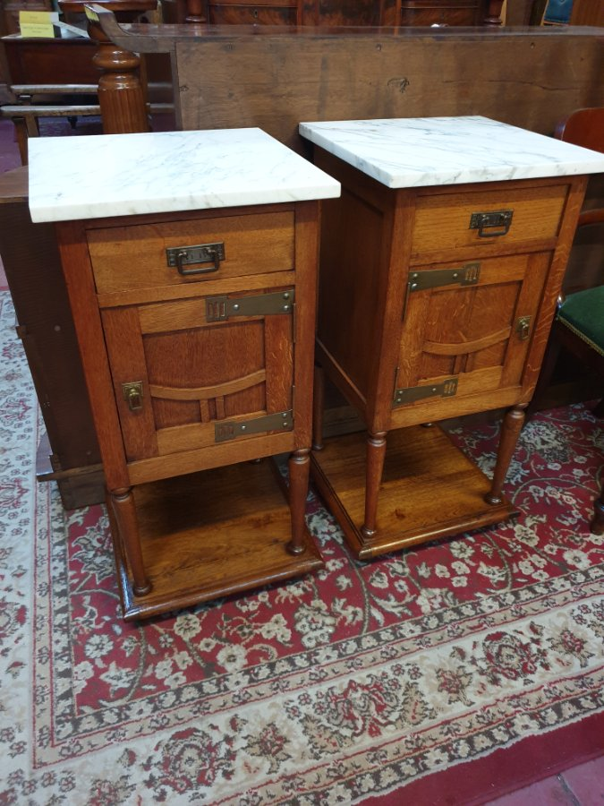 Buy Pair Of French Art Nouveau Bedside Cabin From