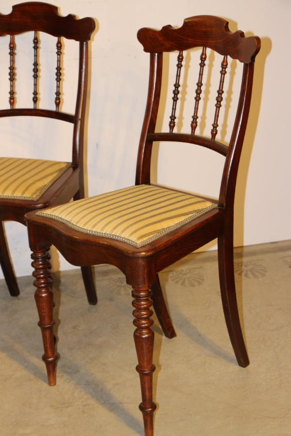 Buy Biedermeier spindle back dining chairs from Antiques ...