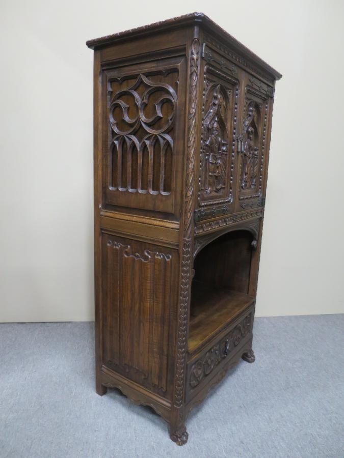 Buy Gothic Revival Oak Cabinet From Nostalgia Antiques
