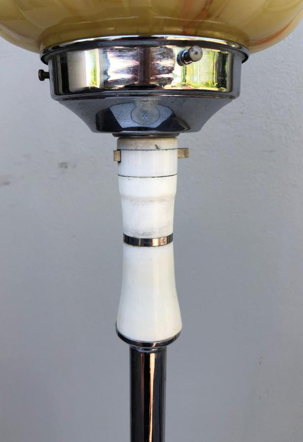 Buy Deco Chrome Bakelite Floor Lamp Shade From Prism Original Deco Lighting Amp Interiors