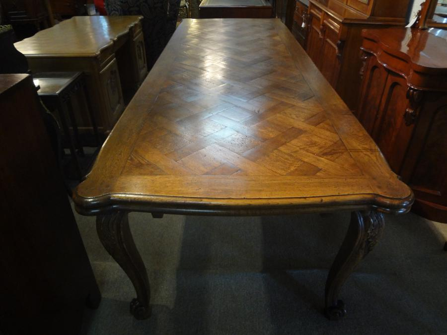 Buy Large 4 Metre French Oak Extension Table From Swintons