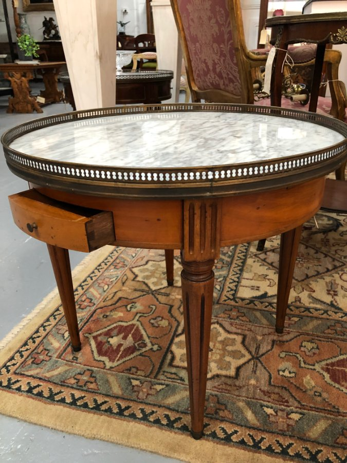 Buy French Walnut Bouillotte Table From Moonee Ponds Antiques