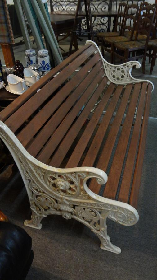 Stupendous Cast Iron And Timber Garden Bench Seat Bralicious Painted Fabric Chair Ideas Braliciousco