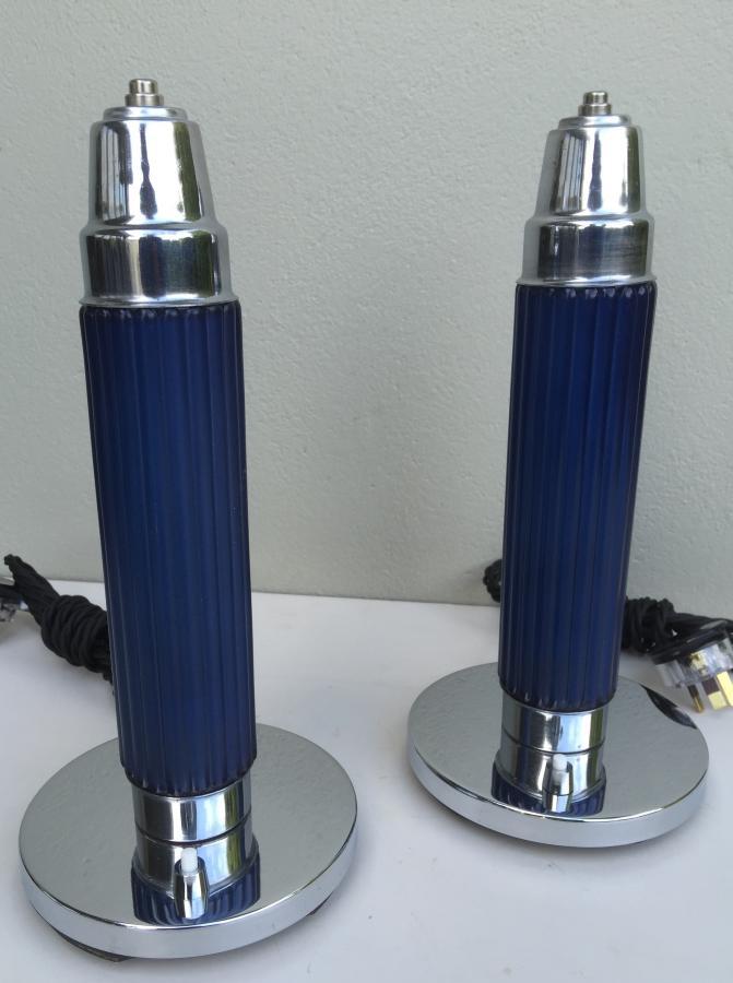 Buy American Deco Bullet Lamp Pair From Prism Original