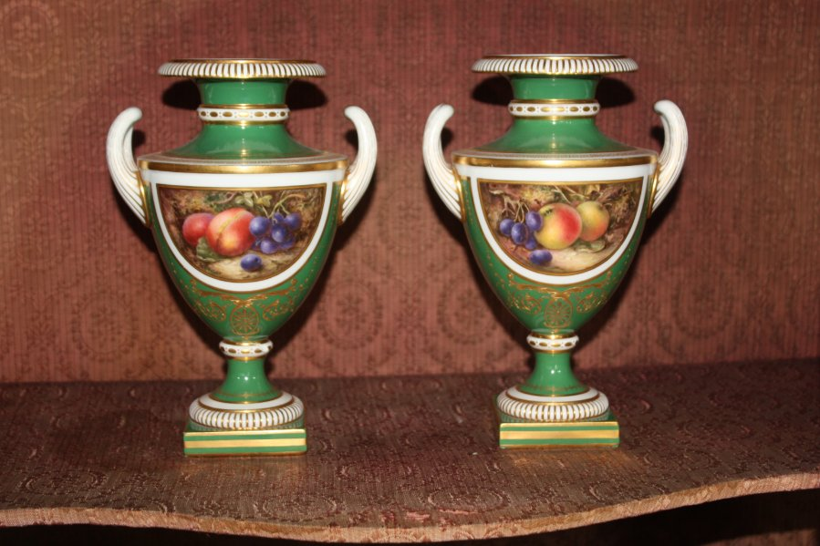 Buy Superb Pair Of Royal Worcester Vases From Caldwell Fine Arts