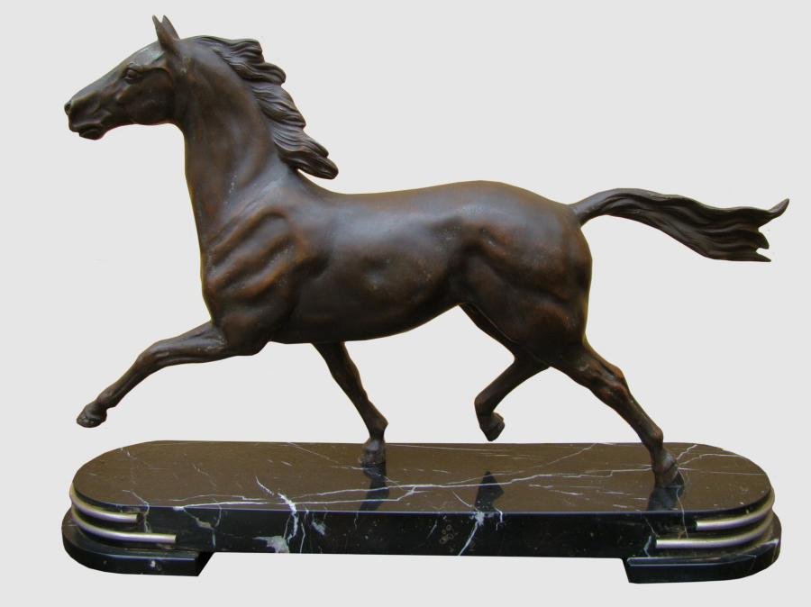 Buy Large Deco Spelter Marble Horse Statue From Prism