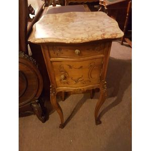 French cherrywood marble top o