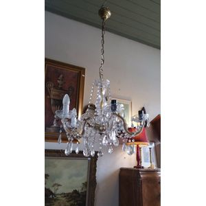 A complete crystal chandelier