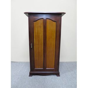 An unusual mahogany panelled record library cabinet with pullout storage sleeves (140 in total). In very good original...