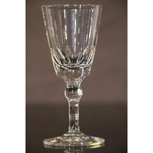 Victorian cut glass sherry gla