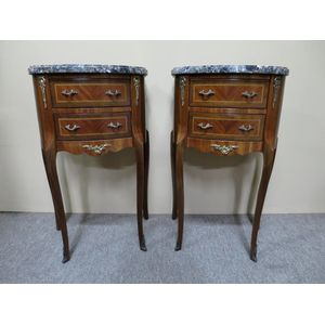 An elegant pair of French marb
