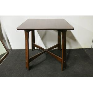 Arts and Crafts style blackbean table, c1910.