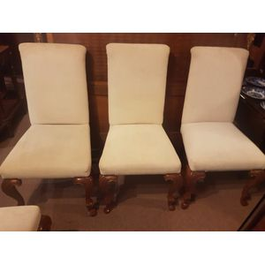 Set of six highback upholstere