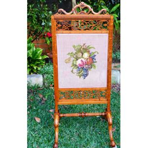 Superb Antique Satinwood Screen C 1850.