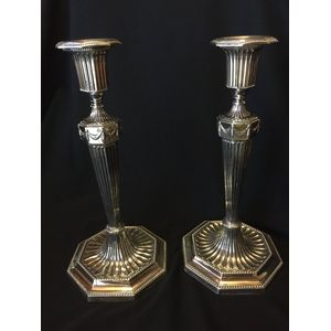 Sterling Silver Tall Candlesti