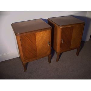 Pair of French Bedside cabinets In good clean condition.