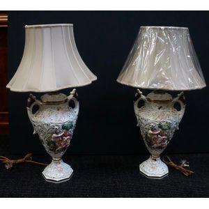 Pair of Large Italian Lamps ..