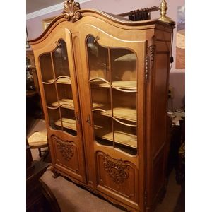 French 30s Oak Two Door Bookcase