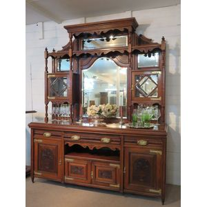 Superb Quality Mirror Backed Sideboard 