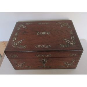Rosewood  Sewing box .Inlaid