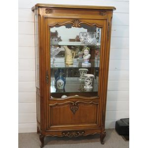 French Cherry Wood Vitrine (Display Cabinet) 