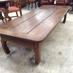 A beautiful and a very hard to find large French coffee table with drawer. A very early piece from circa 1860's. Is in...