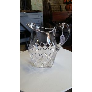 lovely cut crystal milk jug sq