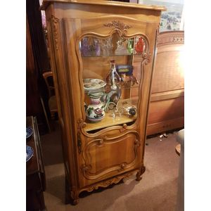 French cherrywood vitrine disp