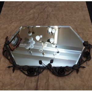 French Wrought Iron Mirror in