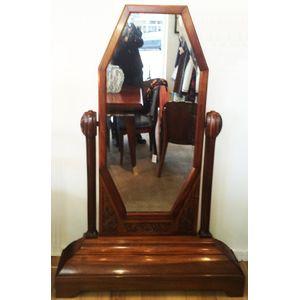 Art Deco Cheval mirror with fu