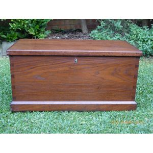 Colonial Cedar Blanket Box / Trunk C1870-80