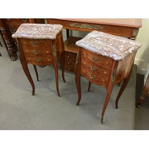 45a1434a3c NEW Pair of French Louis XV Style. Pair of French Kingwood Bedside Tables