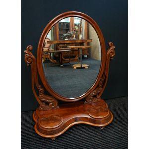 Victorian Cedar Toilet Mirror