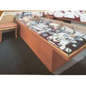 Silky Oak Display/Shop Counter