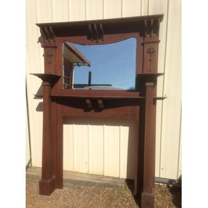 Oak Fire Place Surround with a
