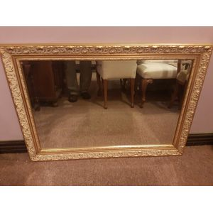 Nice decorative bevilled edge wall mirror  .In excellent condition. Dimensions overall framing.
