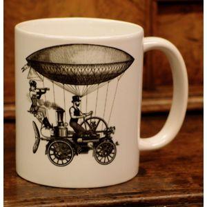 Steampunk Flying Machine Mugs