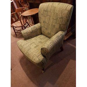 Georgian style lounge armchair