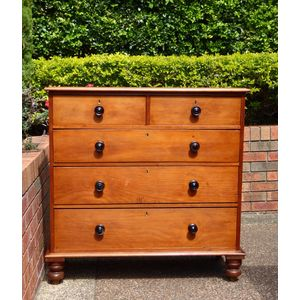 Antique Kauri Pine Chest Of Drawers C 1860 