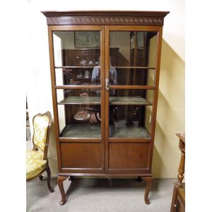 English Edwardian mahogany 2-d