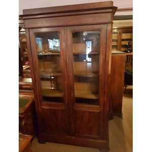 French mahogany two door bookc