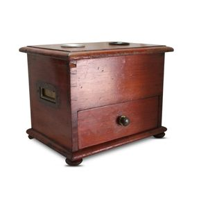 This cedar ballot box features
