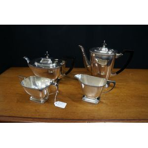 art deco coffee / teaset  in good clean condition epns