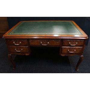 French Lxv Oak Desk In Restored Condition