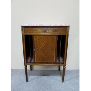 French inlaid mahogany side ca