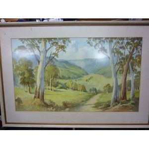 A very nice original Gerald George Ansdell Kangaroo Valley water colour. Signed lower left. Welcome all enquiries. Pick up or...