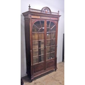 A fine French walnut bookcase
