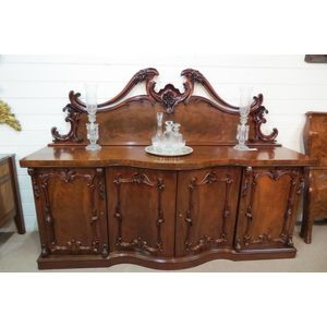 Superb Quality Victorian Mahogany Serpentine Shaped Sideboard 