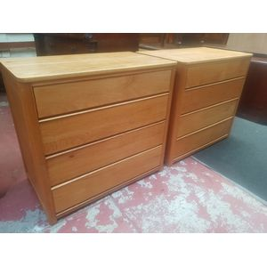 Pair of American oak Art Deco chest of drawers. Four drawers in each chest, drawers run smoothly. Made in Michigan state. $695...